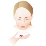 bloed hoesten vrouw